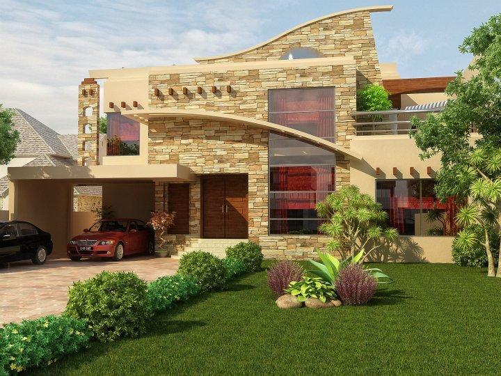 ... Kanal Beautiful 3D Front elevation ,Home Design new 2014 Pakistan