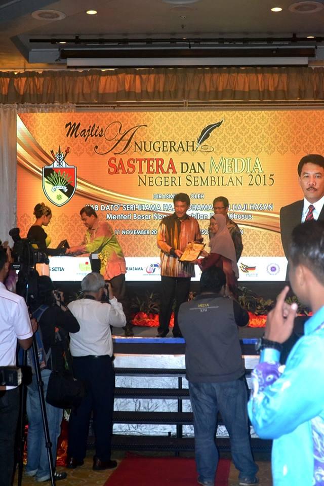 Anugerah Sastera & Media Negeri Sembilan 2015