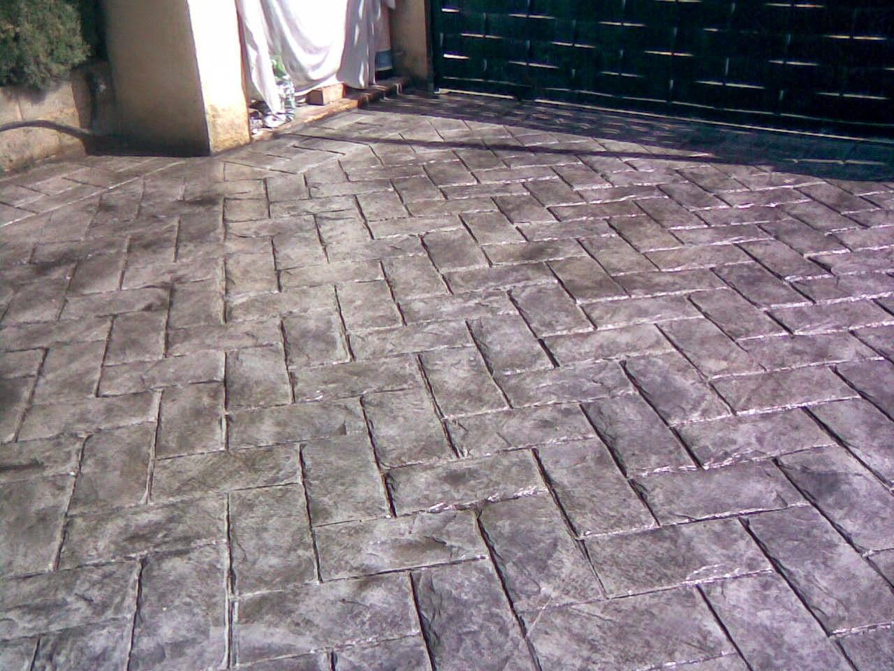 Hormig n impreso piedra a espiga pavimentos continuos - Que es el hormigon impreso ...