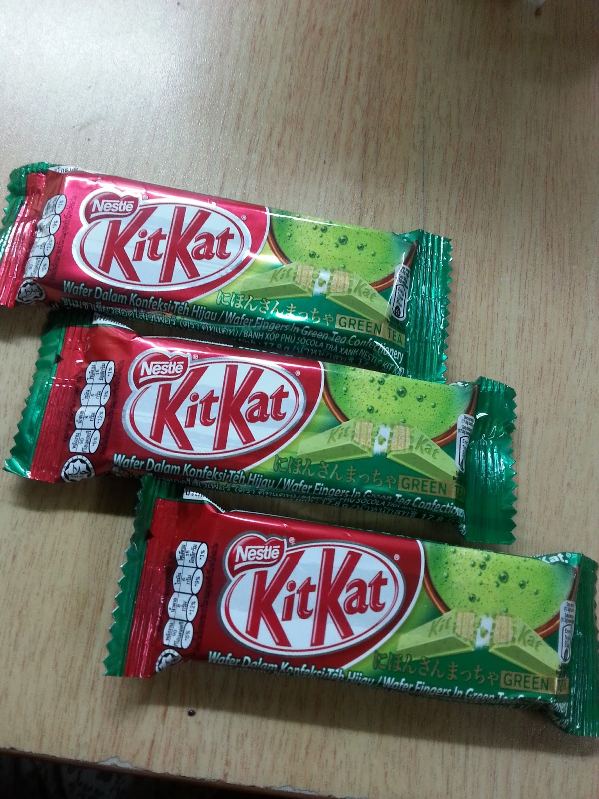 WORDLESS WEDNESDAY : KITKAT GREEN TEA