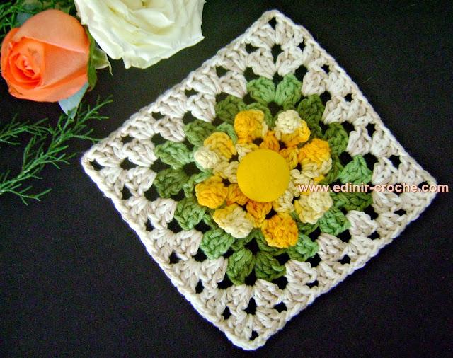 square em croche da coleção aprendi e ensinei com edinir-croche