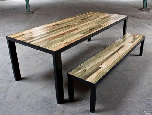 Productos de material reciclado madera reciclada - Mesas de maderas ...