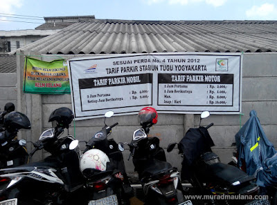 Harga Tarif Parkir Motor Inap Stasiun Tugu Jogja