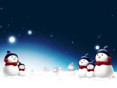Lindo fondo de pantalla con barios muñecos de navidad con bufanda