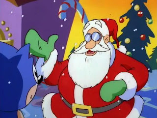 so basically santa did nothing this entire episode thanks asshole - Sonic Christmas Blast