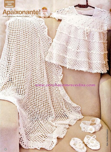 vestido em croche recem-nascido para batizado em croche com receitas