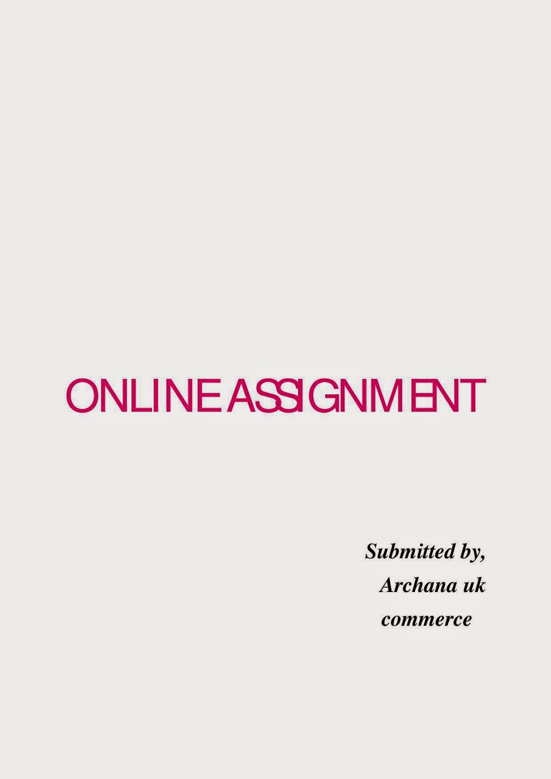 archana uk online assignment