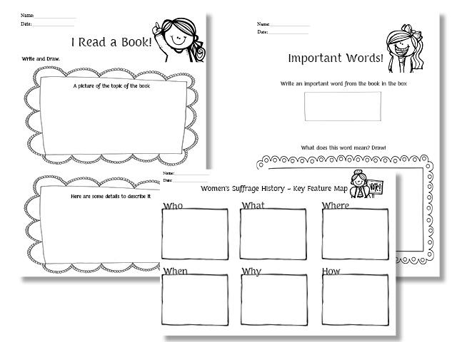 Social Studies Worksheets For 1st Grade Women's history month social