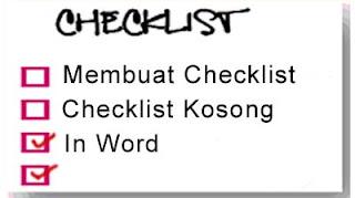Membuat Checklist di MS Word