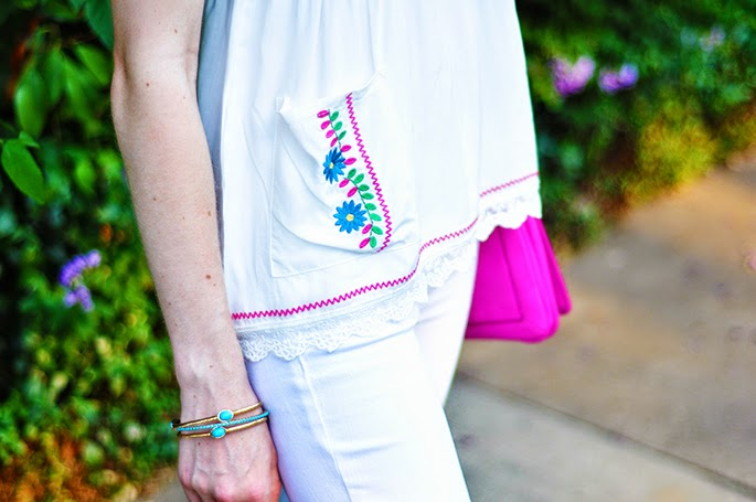 Chelsea and Violet Embroidered Tank