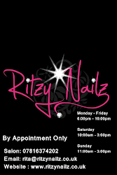 GET YOUR FANTASTIC MANICURES DONE @ RITZY NAILZ SALON UK .