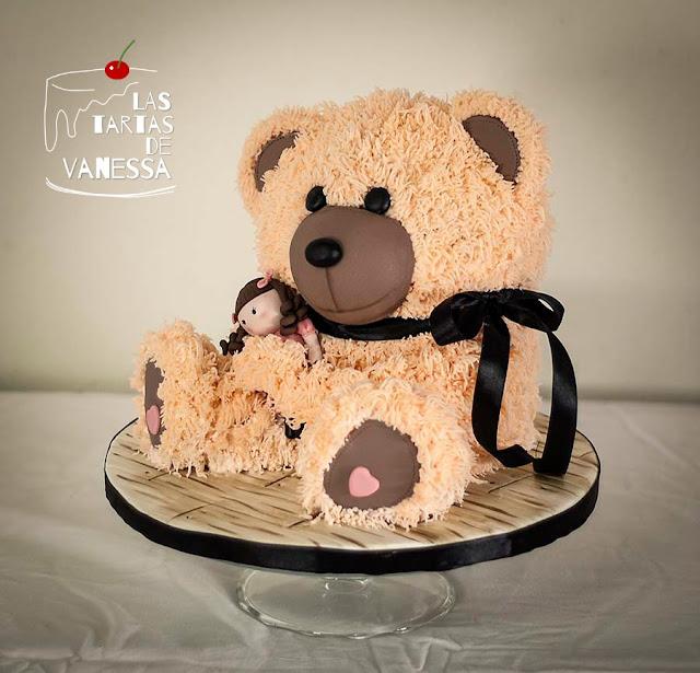 """tarta 3d oso teddy """"teddy bear 3d cake"""""""
