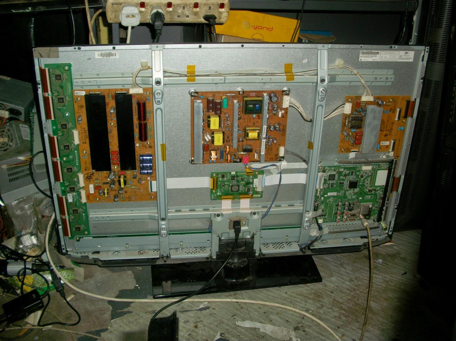 hospital electronics tv repairing and sparepart repair fix pdp lg 42pw450 ta