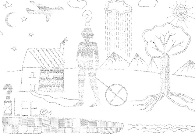 cultura, natura, caligrama