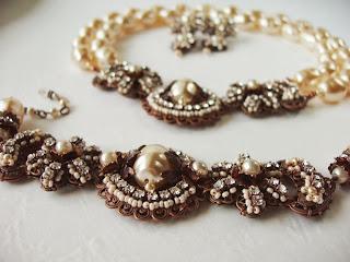 Pärlikee klaaspärlid kaelakee käekett komplekt kristallidega ehtekividega Swarovski Eesti