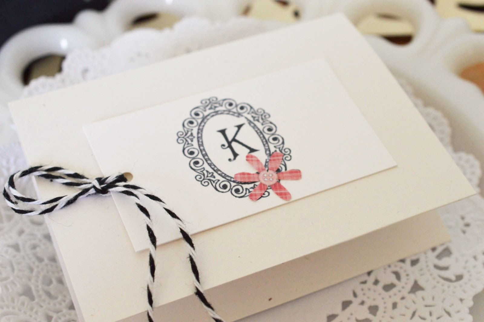 Lori Hairston: Tiny Tab Box w/ Monogram Tags