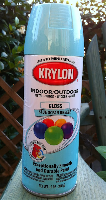"alt=""Lantern makeover krylon blue ocean breeze"""