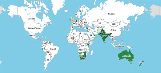 Maps Mania The Geography Of Everything - World geography countries