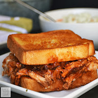 Barbecued Chicken on Garlic Toast   by Life Tastes Good