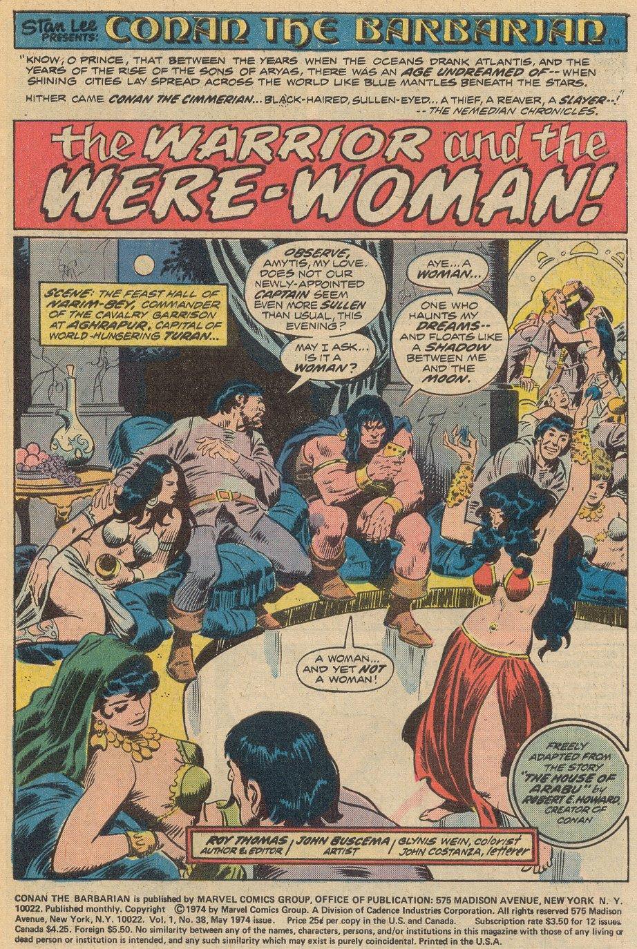 Conan the Barbarian (1970) Issue #38 #50 - English 2