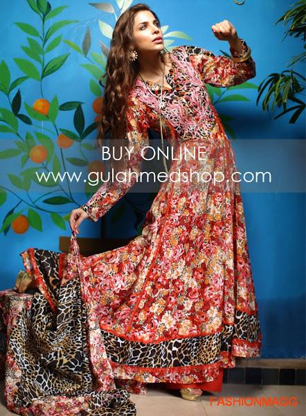 Gul Ahmed Fancy Dresses 2014