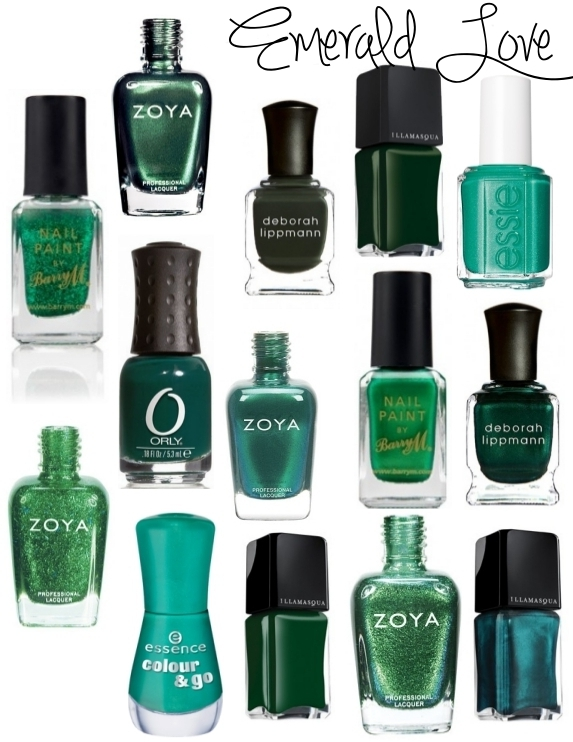 emerald green nail polish