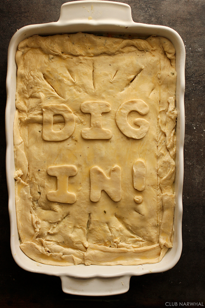 Use cookie cutters to add a fun message to you pies!