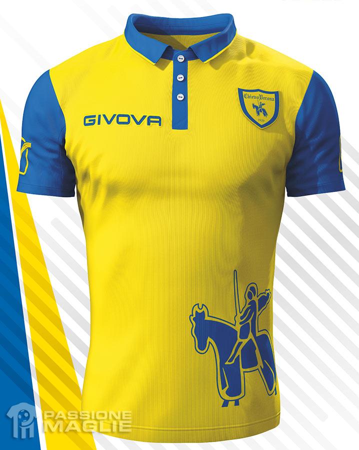 Chievo verona 15 16 kits released footy headlines for Uniform verona