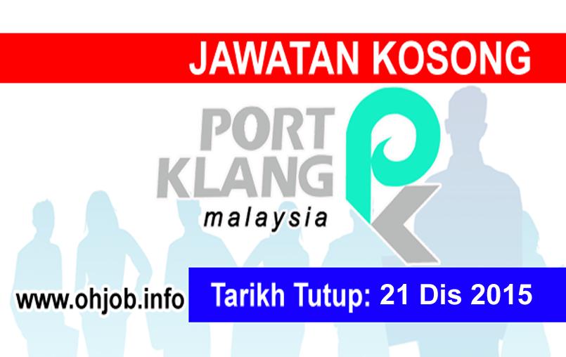 Jawatan Kerja Kosong Lembaga Pelabuhan Klang (PKA) logo www.ohjob.info disember 2015