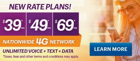 Get Unlimited Voice and Text Nation Wide! on 4G Network