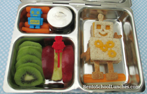 Robot bento, planetbox launch review, bento school lunches