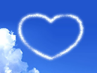 picture of love: heart made by cloud
