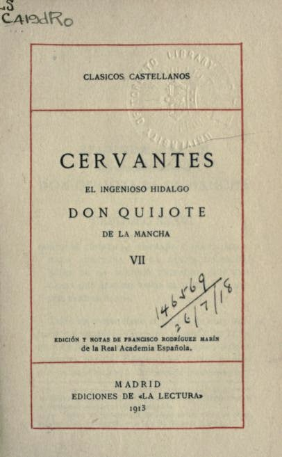 Don Quijote tomo VII