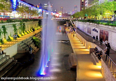 sungai cheonggyecheon stream korea