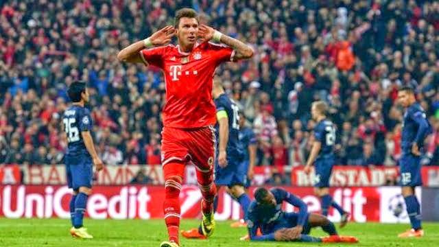 بايرن ميونخ يقصي مانشستر يونايتد و يتأهل لنصف نهائي دوري الابطال
