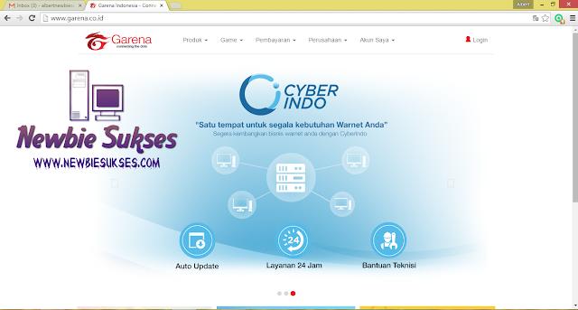Kunjungi http://www.garena.co.id kemudian klik login. tampilan seperti gambar di bawah ini