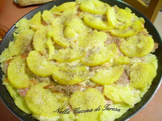 il tortino di patate un ottimo secondo piatto facile e veloce da preparare specialmente se lo passate al microonde invece che al forno