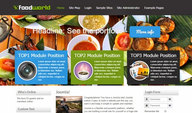 FoodWorld Joomla template