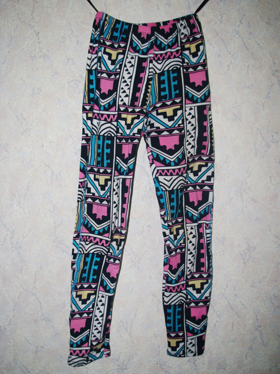 Motel Printed Legging in Aztec Pastel Print, aztec leggings, aztec print, printed leggings