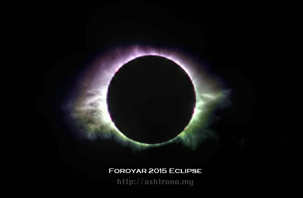 Total solar eclipse of March 20, 2015 as seen by Halda Mohammed in the Faroe Islands