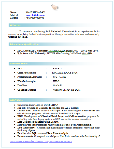 Electronics and Communication Engineering Resume Samples BNSC