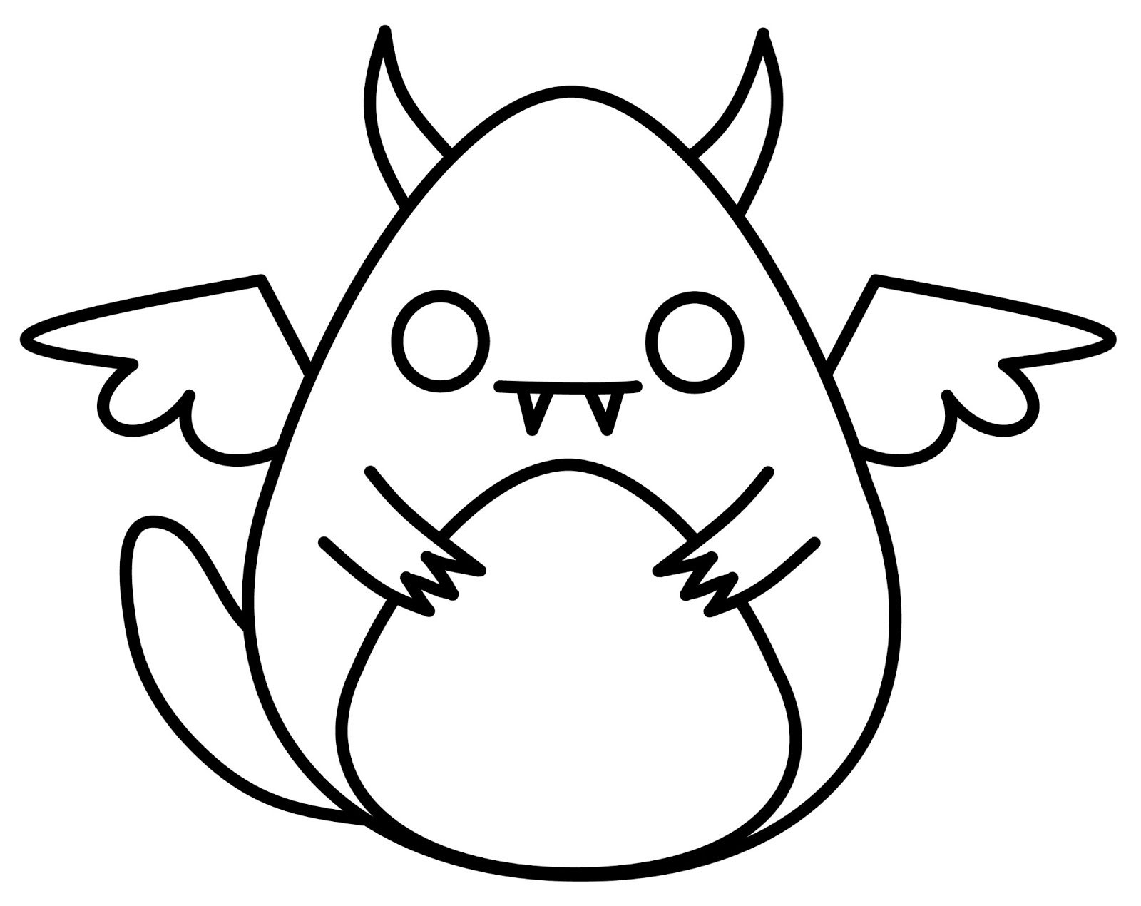 Cute n kawaii how to draw a kawaii monster for Cute simple drawings