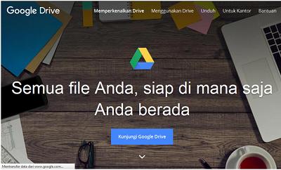 Google Drive, layanan internet google