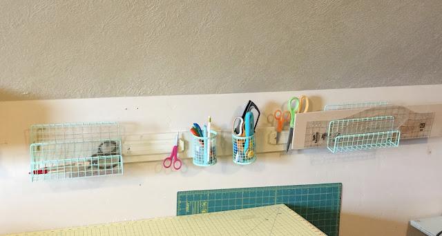 Cutting Table Sewing Organization