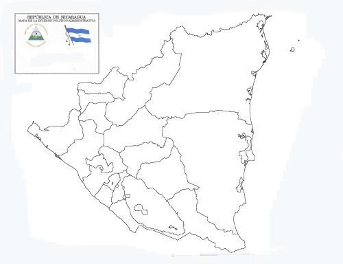 Mapa de nicaragua para colorear