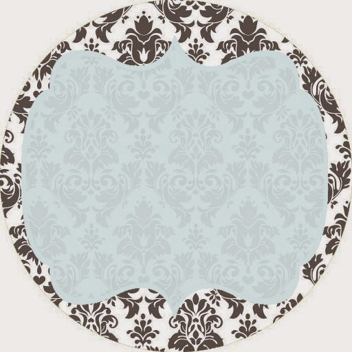 Grey Damasks in Blue Toppers or Free Printable Candy Bar Labels.