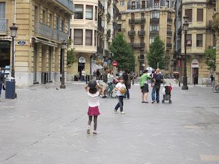 kid-friendly plaza