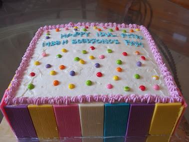Cake Coklat Rainbow