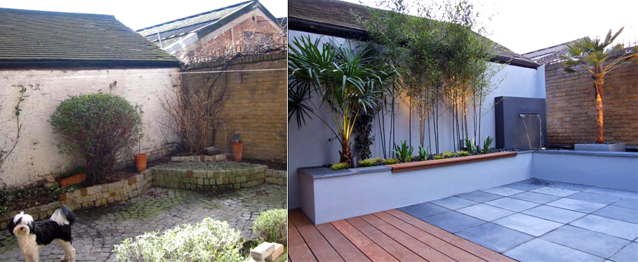 Before And After Photos Of Contemporary Garden Design Projects In London By Mylandscapes Ltd Mylandscapes Ltd