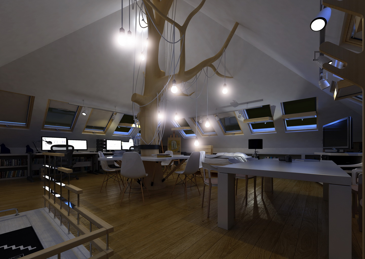 architectural design office. architectural design office, small scale, north europe office c